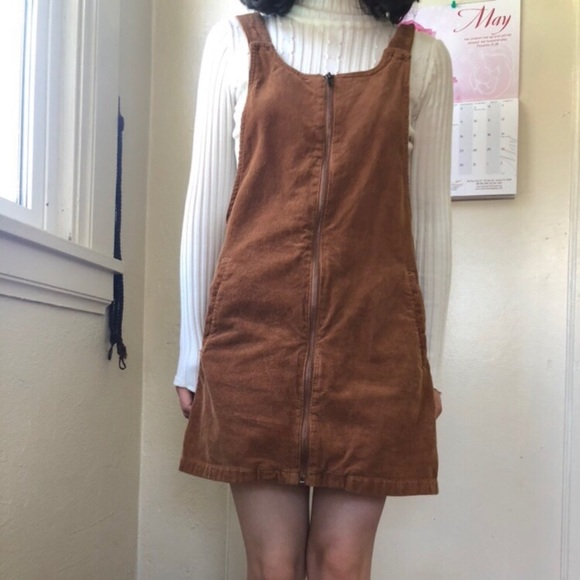 Forever 21 Dresses & Skirts - Brown corduroy overall bucket dress